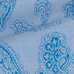 Germirli Açık Mavi Şal Desen Klasik Yaka Tailor Fit Gömlek - Thumbnail