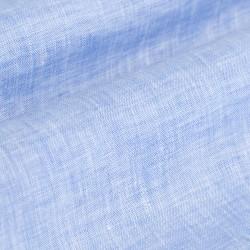 Germirli A.Mavi Keten Düğmeli Yaka Tailor Fit Gömlek - Thumbnail