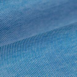 Germirli Azur Mavisi Klasik Yaka Piquet Örme Slim Fit Gömlek - Thumbnail