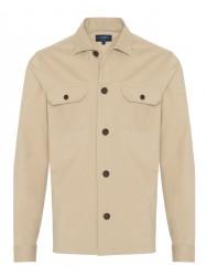 Germirli - Germirli Bej Diagonel Dokulu Tailor Fit Ceket Gömlek (1)