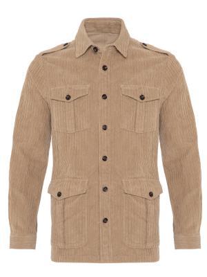 Germirli - Germirli Bej Kalın Fitilli Tailor Fit Ceket Gömlek (1)