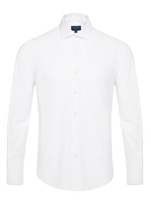 Germirli - Germirli Beyaz 3D Streç Slim Fit Active Gömlek