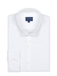 Germirli - Germirli Beyaz 3D Streç Slim Fit Active Gömlek (1)