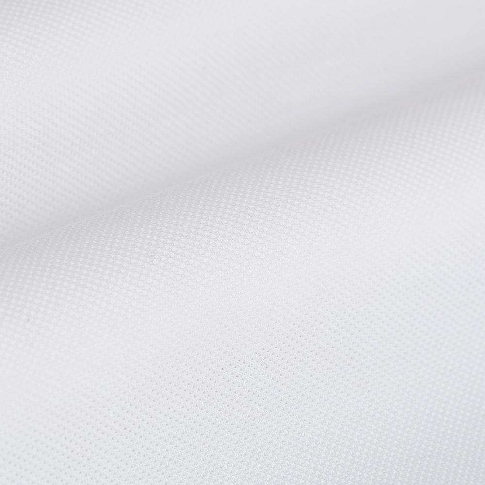 Germirli Beyaz Düğmeli Yaka Piquet Örme Slim Fit Gömlek