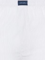 Germirli - Germirli Beyaz Laci İnce Çizgili Pamuk Boxer Şort (1)