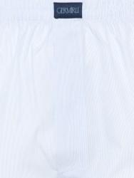 Germirli - Germirli Beyaz Mavi İnce Çizgili Pamuk Boxer Şort (1)