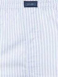 Germirli - Germirli Beyaz Mavi Kalın Çizgili Pamuk Boxer Şort (1)