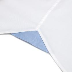 Germirli Beyaz Panama Dokulu Düğmeli Yaka Tailor Fit Gömlek - Thumbnail