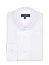 Germirli - Germirli Beyaz Petek Dokulu Nevapas Tek Parça Yaka Tailor Fit Gömlek (1)