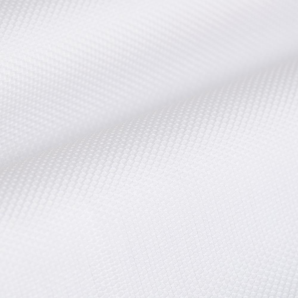 Germirli Beyaz Petek Dokulu Nevapas Tek Parça Yaka Tailor Fit Gömlek