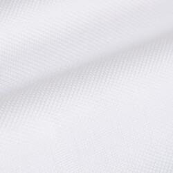 Germirli Beyaz Petek Dokulu Nevapas Tek Parça Yaka Tailor Fit Gömlek - Thumbnail