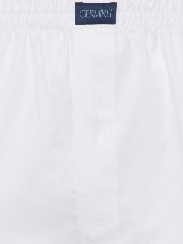 Germirli - Germirli Beyaz Twill Pamuk Boxer Şort (1)