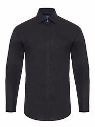 Germirli - Germirli Black Semi Spread Tailor Fit Shirt