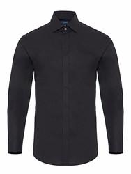 Germirli Black Semi Spread Tailor Fit Shirt - Thumbnail