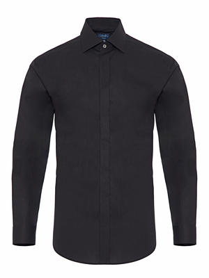 Germirli Black Semi Spread Tailor Fit Shirt