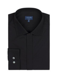 Germirli - Germirli Black Semi Spread Tailor Fit Shirt (1)