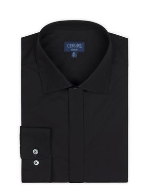 Germirli - Germirli Black Semi Spread Tailor Fit Shirt (1)