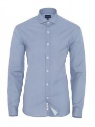 Germirli Blue White Semi Spread Tailor Fit Shirt - Thumbnail