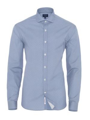 Germirli Blue White Semi Spread Tailor Fit Shirt
