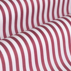 Germirli Bordo Beyaz Çizgili Düğmeli Yaka Tailor Fit Gömlek - Thumbnail