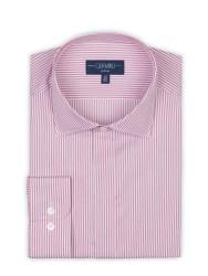 Germirli - Germirli Bordo Beyaz Gizli Pat Klasik Yaka Tailor Fit Gömlek (1)