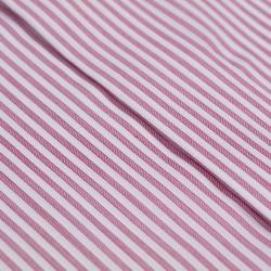 Germirli Bordo Beyaz Gizli Pat Klasik Yaka Tailor Fit Gömlek - Thumbnail
