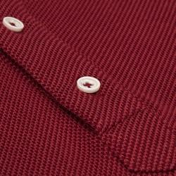 Germirli - Germirli Bordo Dokulu Örme Gömlek Yaka Düğmeli Tailor Fit Uzun Kollu T-Shirt (1)