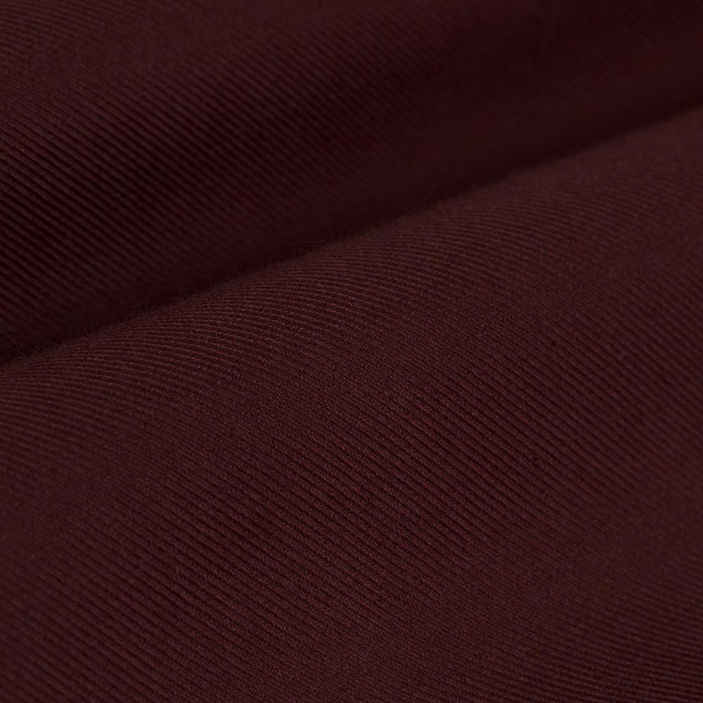 Germirli Bordo Twill Düğmeli Yaka Tailor Fit Kaşmir Gömlek