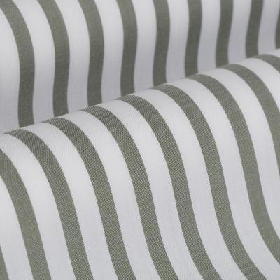 Germirli - Germirli Çağla Yeşil Beyaz Çizgili Düğmeli Yaka Tailor Fit Yoga Gömlek (1)