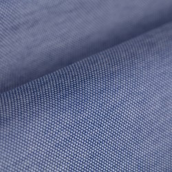 Germirli Dark Blue Semi Spread Collar Piquet Knitted Slim Fit Shirt - Thumbnail