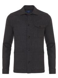 Germirli - Germirli Füme %100 Yün Tailor Fit Wool Heritage Ceket Gömlek (1)