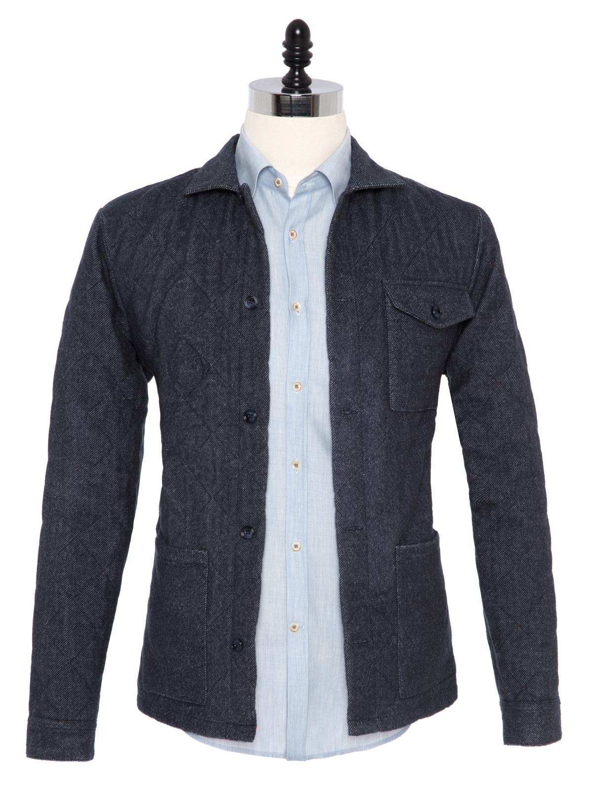Germirli - Germirli Füme Kapitone Tailor Fit Ceket Gömlek