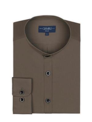 Germirli - Germirli Grandad Collar Tailor Fit Shirt (1)