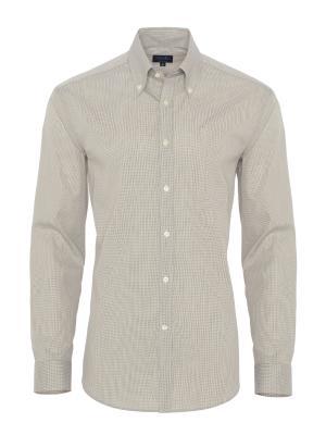 Germirli - Germirli Gri Beyaz Kareli Tailor Fit Gömlek