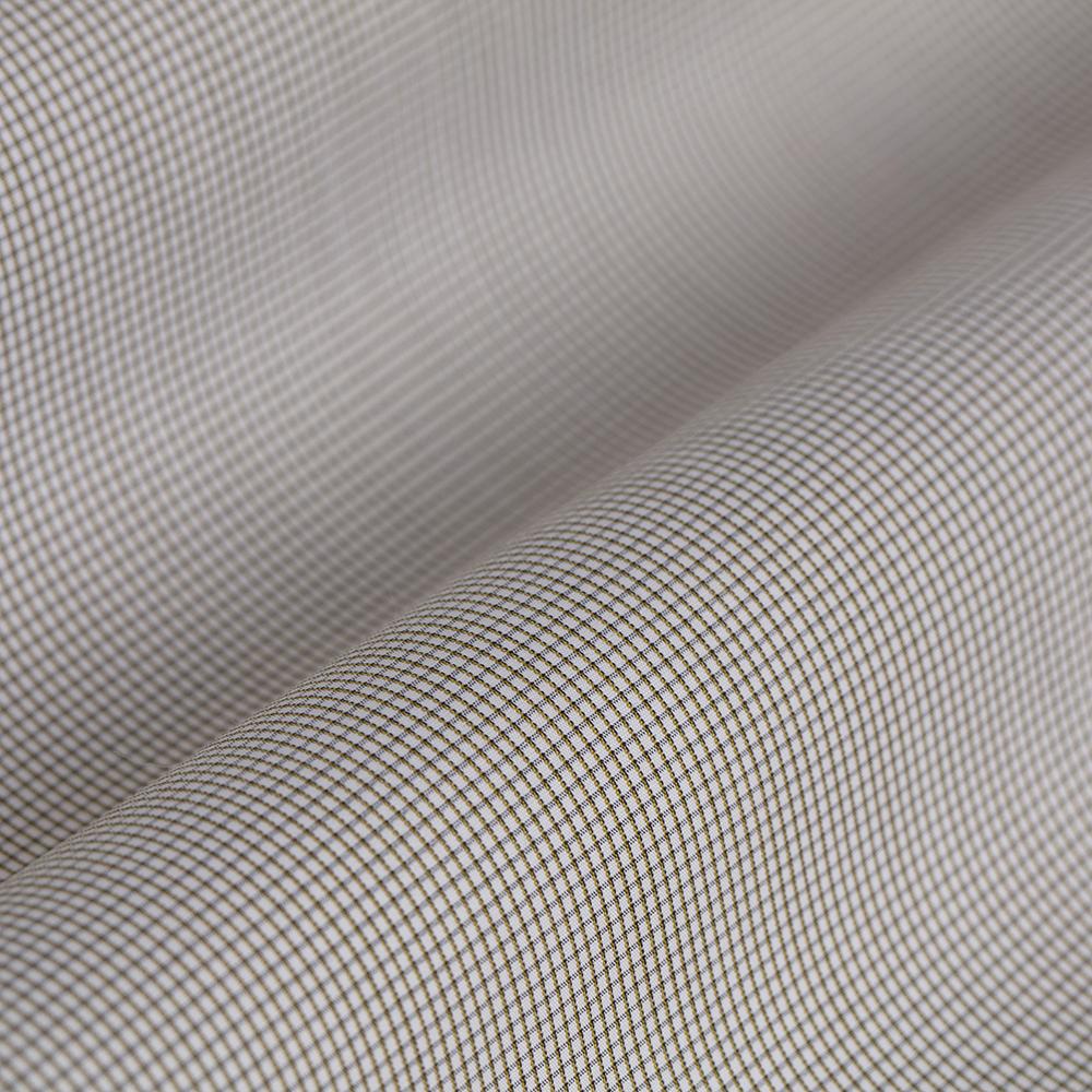 Germirli Gri Beyaz Kareli Tailor Fit Gömlek