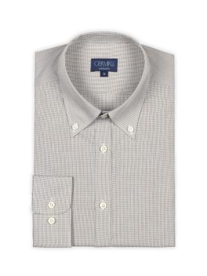 Germirli - Germirli Gri Beyaz Kareli Tailor Fit Gömlek (1)