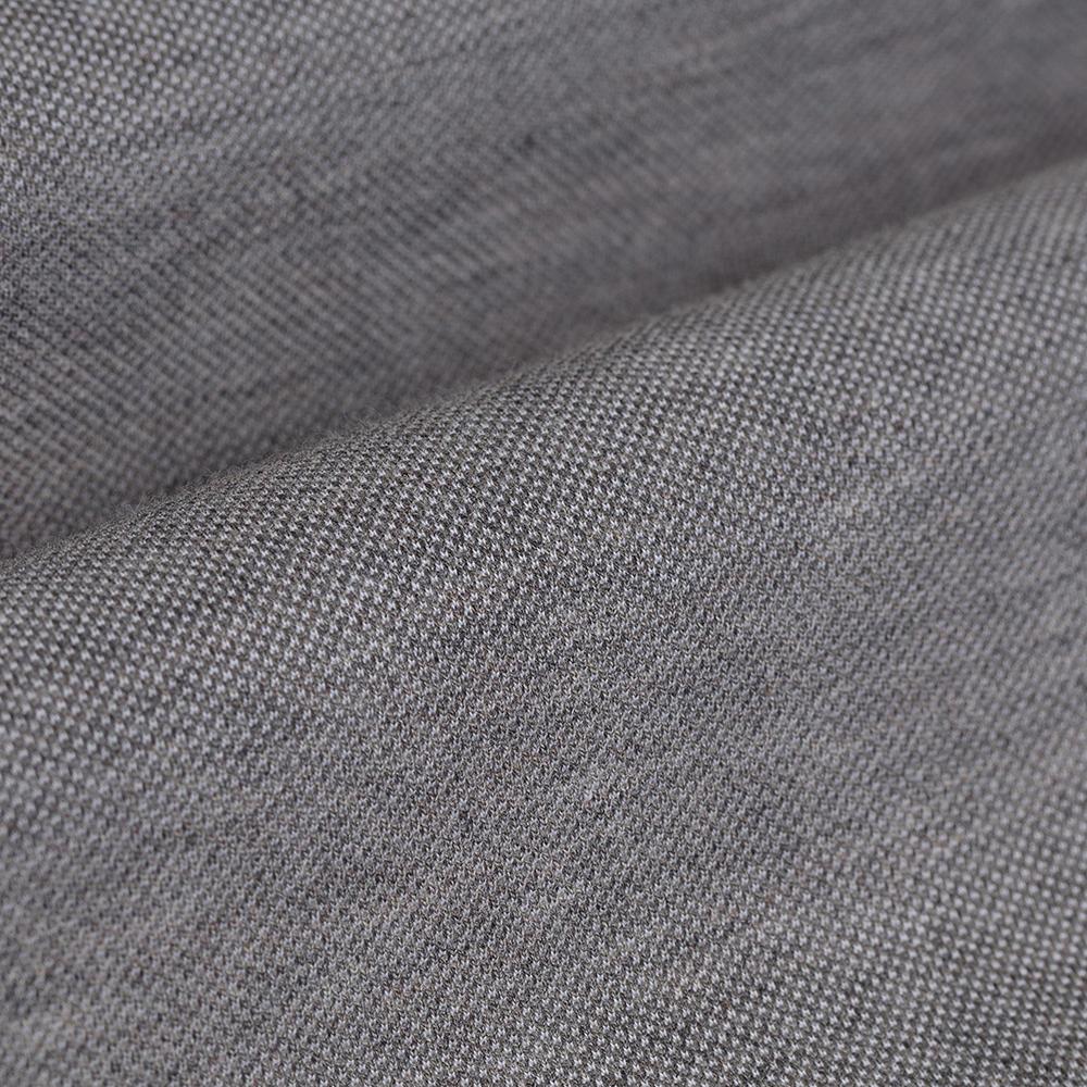 Germirli Gri Düğmeli Yaka Piquet Örme Slim Fit Gömlek