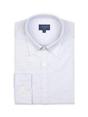 Germirli - Germirli Gri Oxford Düğmeli Yaka Tailor Fit Gömlek (1)