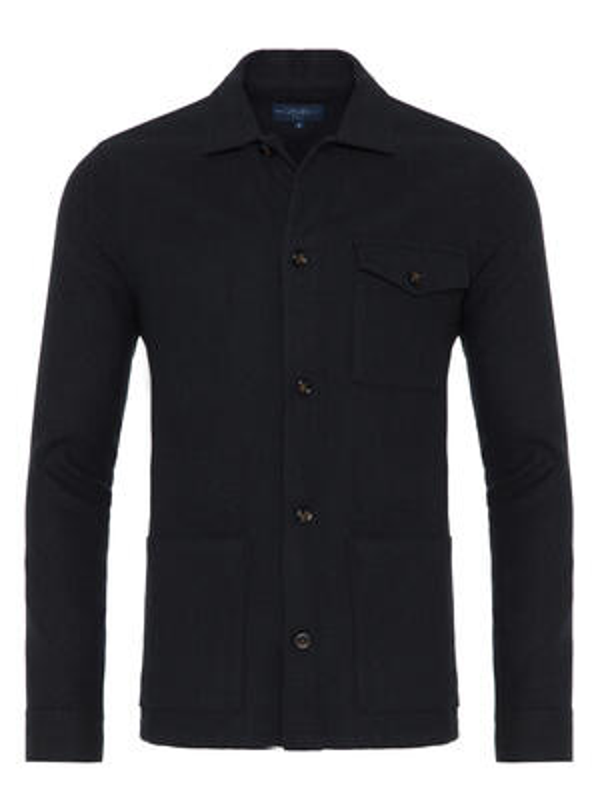 Germirli - Germirli Haki Füme %100 Yün Tailor Fit Wool Heritage Ceket Gömlek (1)