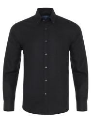 Germirli - Germirli Haki Melanj Flanel Düğmeli Yaka Tailor Fit Gömlek