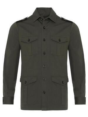 Germirli - Germirli Haki Tailor Fit Ceket Gömlek (1)