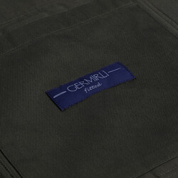Germirli Haki Tailor Fit Ceket Gömlek - Thumbnail