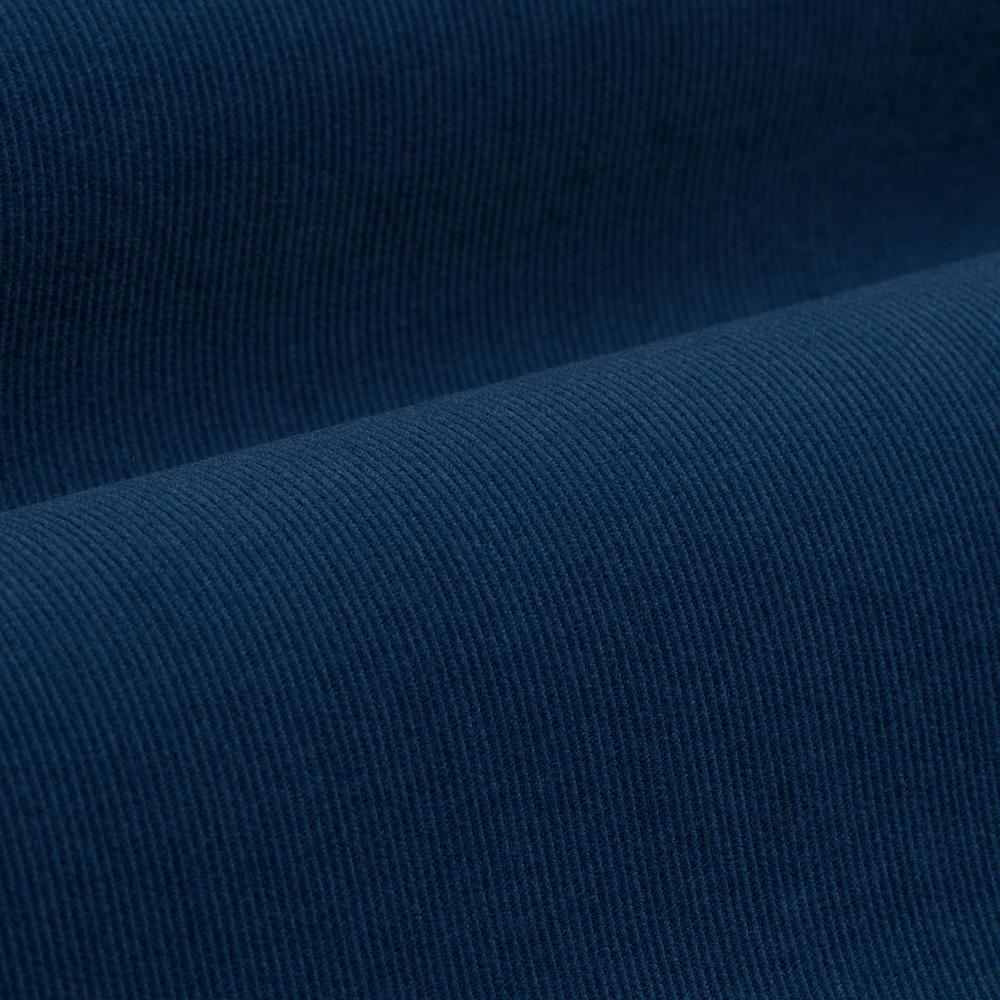 Germirli Havacı Mavi Kadife Düğmeli Yaka Tailor Fit Gömlek