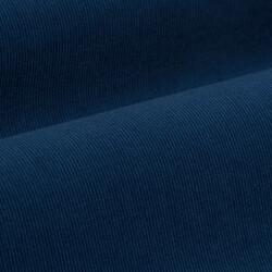 Germirli Havacı Mavi Kadife Düğmeli Yaka Tailor Fit Gömlek - Thumbnail