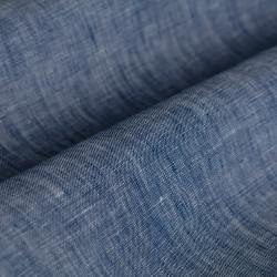 Germirli Indigo Keten Tailor Fit Gömlek - Thumbnail