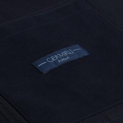 Germirli İndigo Lacivert Tailor Fit Ceket Gömlek - Thumbnail