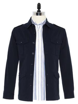 Germirli - Germirli İndigo Lacivert Tailor Fit Ceket Gömlek
