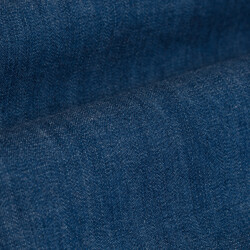 Germirli İndigo Mavi Denim Tailor Fit Ceket Gömlek - Thumbnail