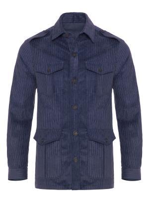 Germirli - Germirli Indigo Mavi Kalın Fitilli Tailor Fit Ceket Gömlek (1)