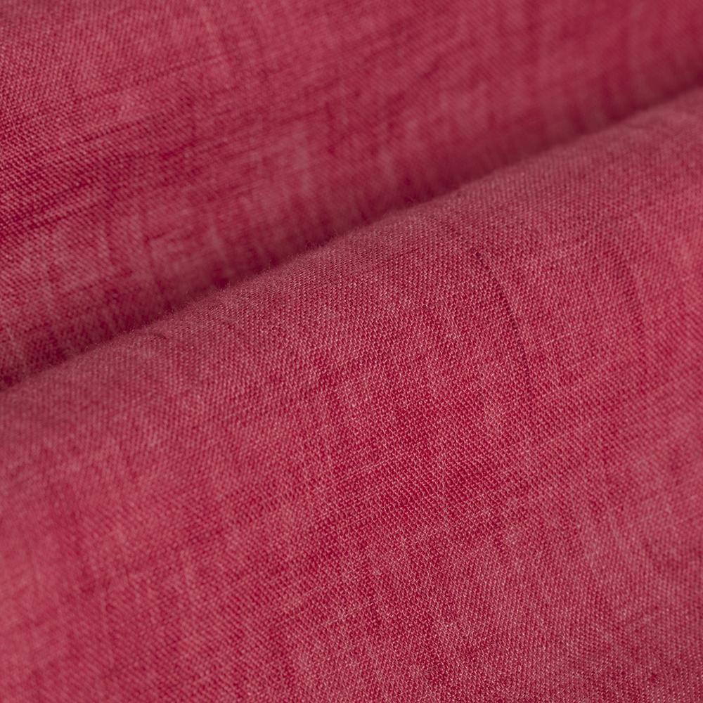 Germirli Kiremit Delave Keten Düğmeli Yaka Tailor Fit Gömlek